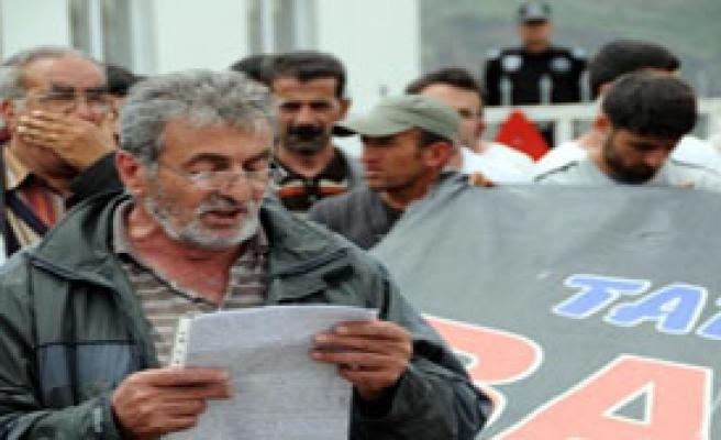 Köylüler, Baraj Şantiyesinde Eylem Yaptı