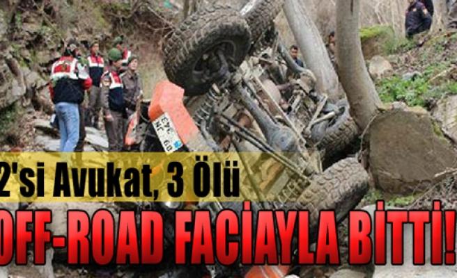 Off-Road Gezisinde Kaza
