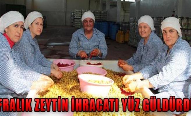 Sofralık Zeytin İhracatı Yüz Güldürdü