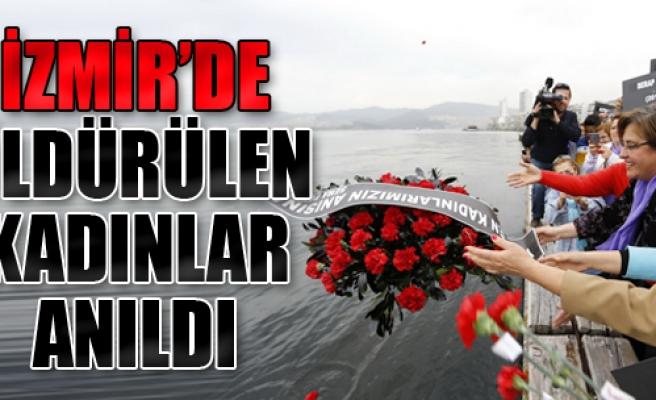 İzmir'de Öldürülen Kadınlar Anıldı