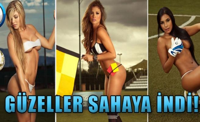 Kolombiyalı Güzeller Sahaya İndi!