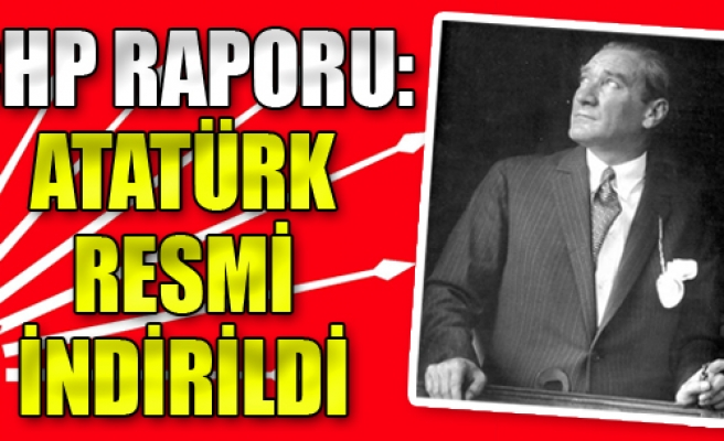 CHP Raporu: Atatürk Resmi İndirildi
