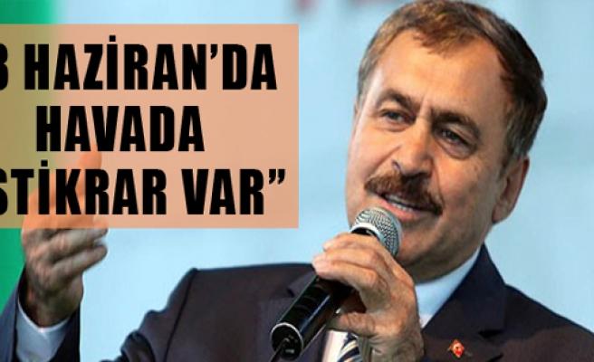 Eroğlu:'Havada İstikrar Var'