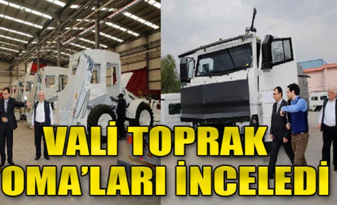 İzmir Valisi TOMA Üretimini İnceledi