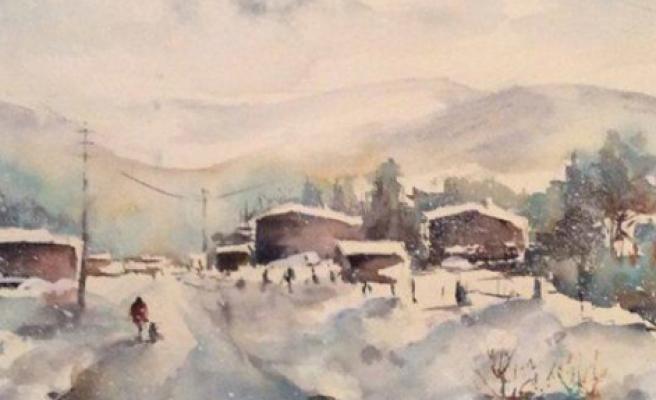 Kış Temalı Karma Resim Sergisi