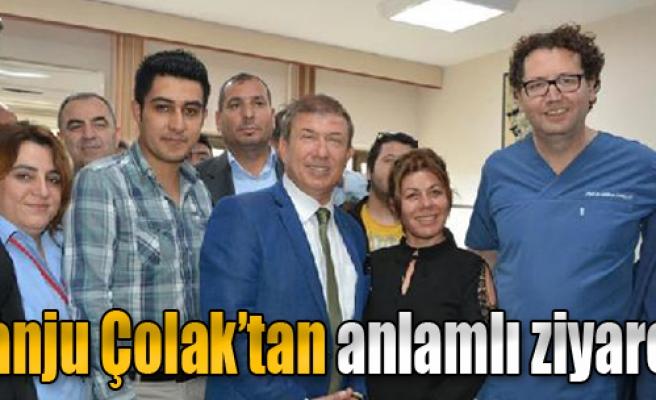 Tanju Çolak'tan Hastaneye Moral Ziyareti