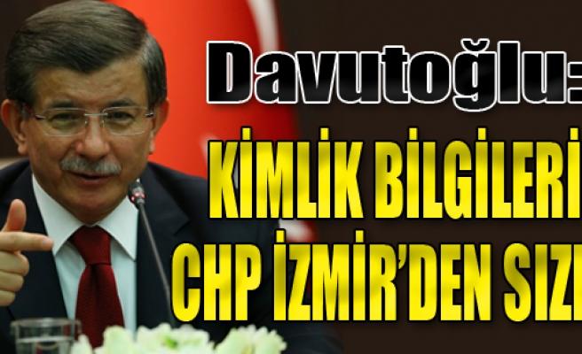 'Kimlik Bilgileri CHP İzmir'den Sızdı'