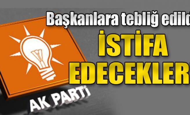 AK Parti'de istifalar gelecek