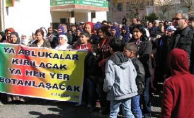Viranşehir'de Dbp'lilerden Cizre Protestosu