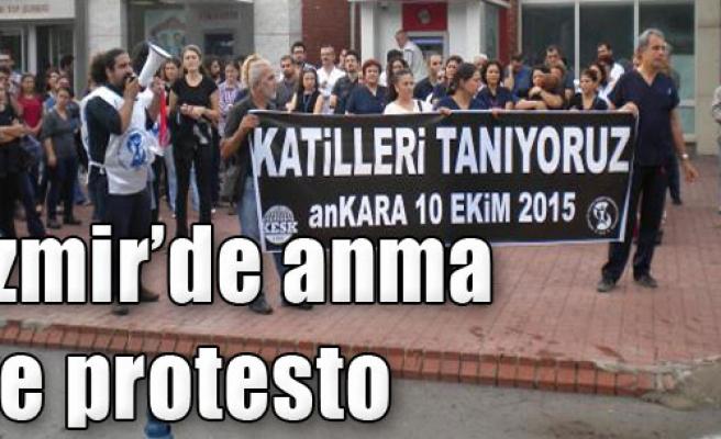 İzmir'de Anma ve Protesto