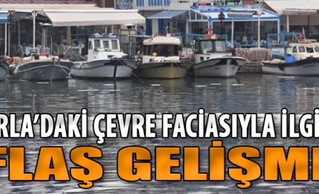 Urla'da Fuel Oil Akan Denizin Yüzde 70'i Temizlendi