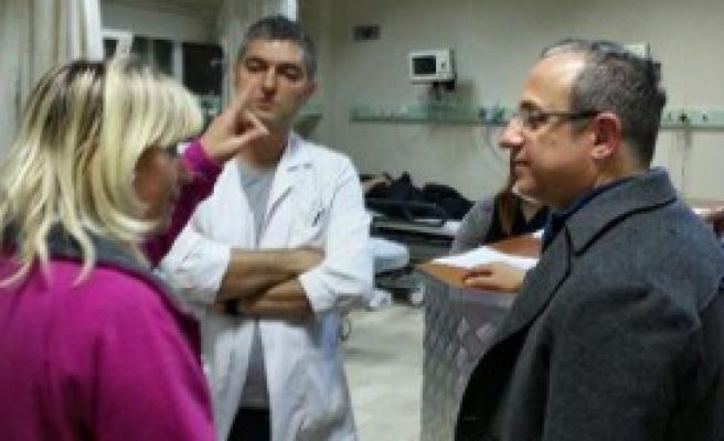 Sürekli'den Gece Hastane Ziyareti
