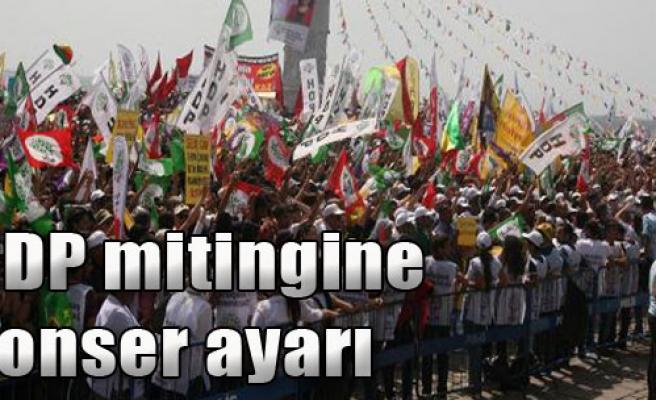 HDP Mitingine Konser Ayarı