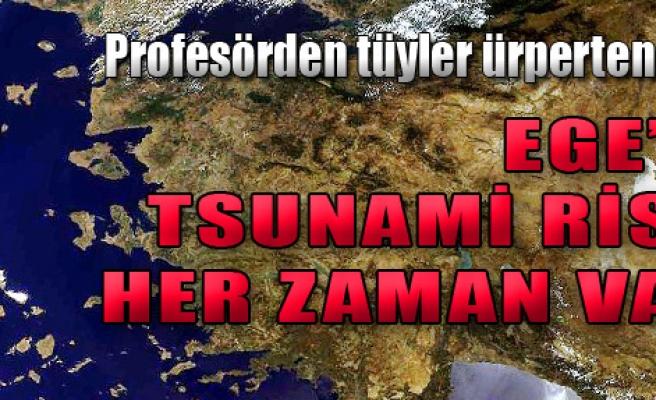'Ege'de Tsunami Riski Her Zaman Var'
