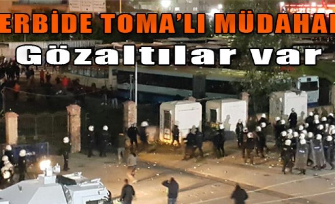 İzmir Derbisine TOMA'lı Müdahale