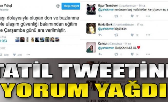 İl Milli Eğitim Müdürü'nün Tatil Tweetine Yorum Yağdı