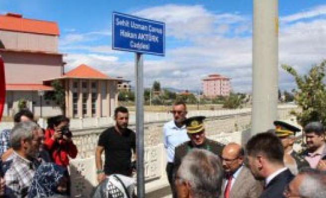 Burdur'da, Şehidin Adı Caddeye Verildi