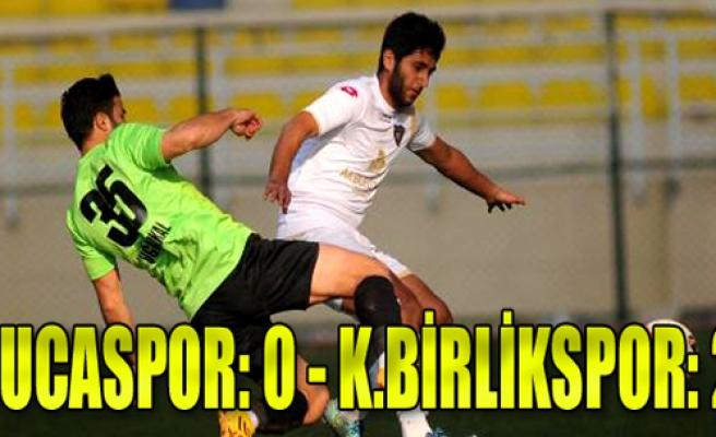 Bucaspor-Kocaeli Birlikspor: 0-2