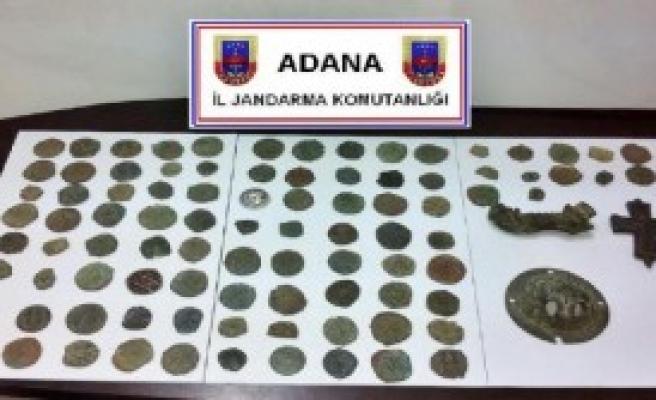 Adana'da 105 Sikke Ele Geçirildi