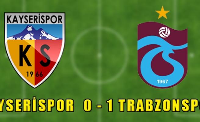 Kayserispor 0 - 1 Trabzonspor