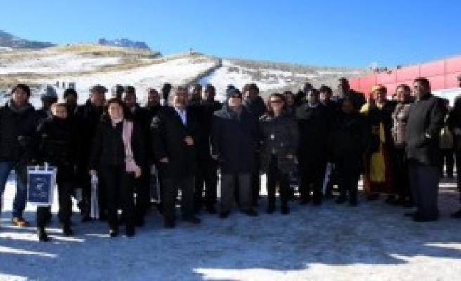 Afrikalı Büyükelçiler, Erciyes'i Gezdi