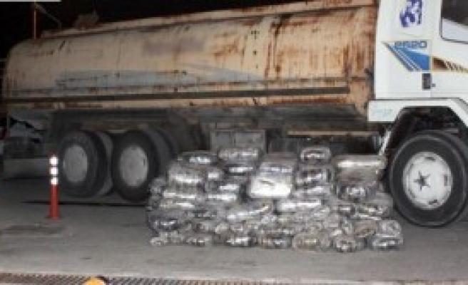 Akaryakıt Tankerinden 482 Kilo Esrar Çıktı