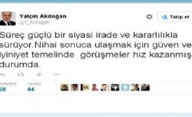 Akdoğan'dan Çözüm Süreci Açıklaması