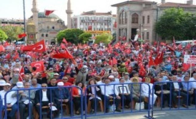 Aksaray'da 'Demokrasi Ve Şehitler Mitingi'