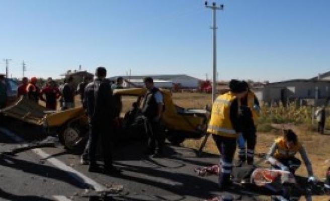 Aksaray'da Kaza:3 Ölü,4 Yaralı
