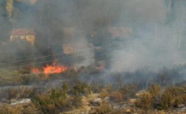 Akşehir'de 7 Dekarlık Ormanlık Alan Yandı