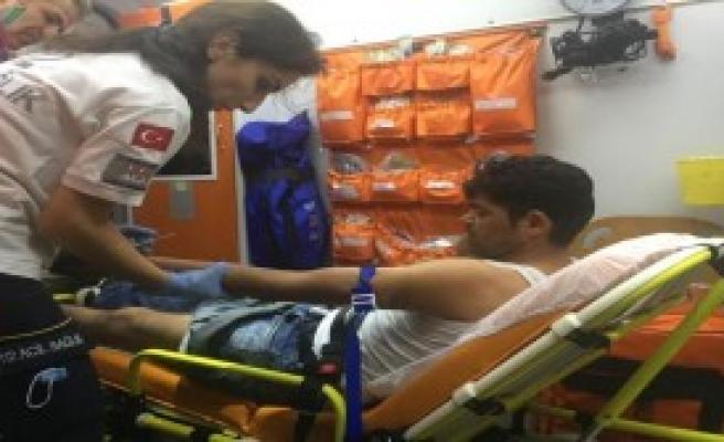 Alkollü Motosikletli Kaza Yaptı