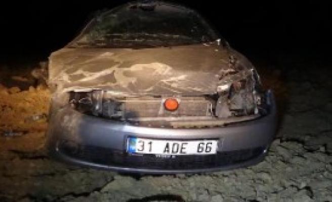 Andırın'da Otomobil Takla Attı