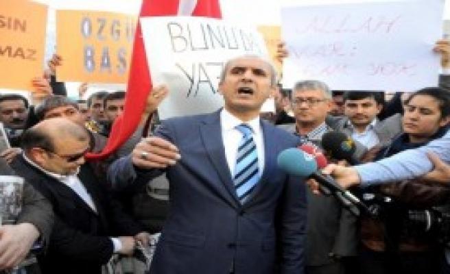 Antalya'da '14 Aralık' Operasyonu Protestosu