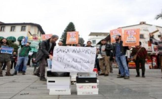 Antalya'da '17 Aralık' Protestoları