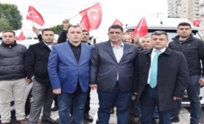 Antalya'da 3 Bin 350 Servisçi Ve Taksici Terörü Kınadı
