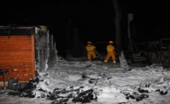 Antalya'da Orman Yangını İşyerlerine Zarar Verdi