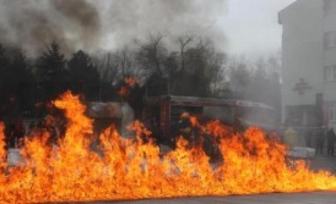 Atatürk Üniversitesi'nde Yangın Tatbikatı