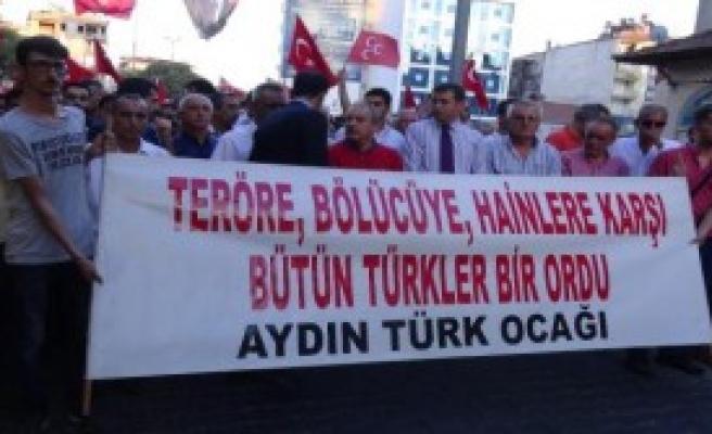 Aydın'da Teröre Tepki Yürüyüşü