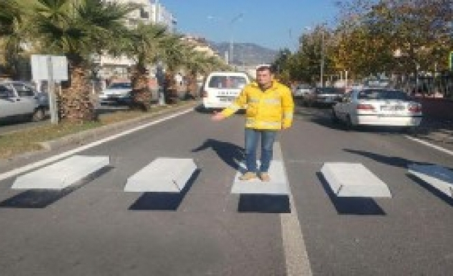 Aydın'da Üç Boyutlu Yaya Geçidi