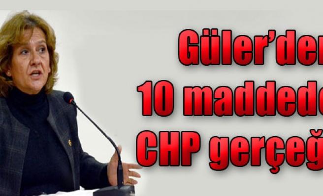 Güler'den 10 Maddede CHP Gerçeği