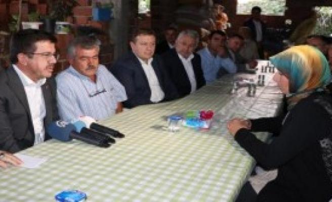 Bakan Zeybekci'den Taziye Ziyareti