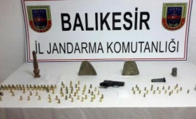 Bandırma'da Tarihi Eser Ele Geçirildi