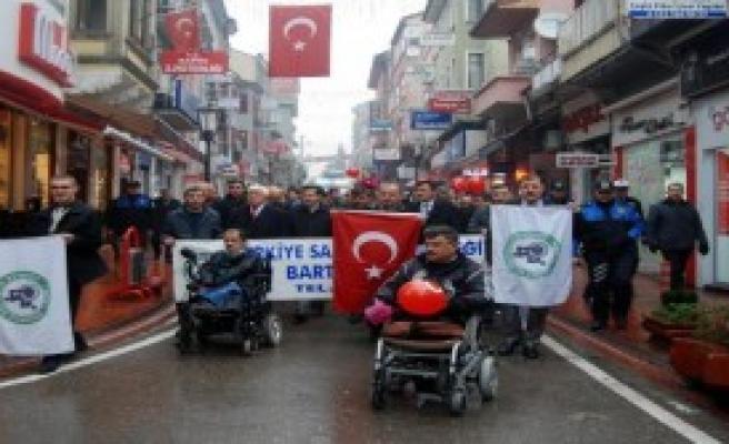 Bartın'da Engelliler Yürüdü