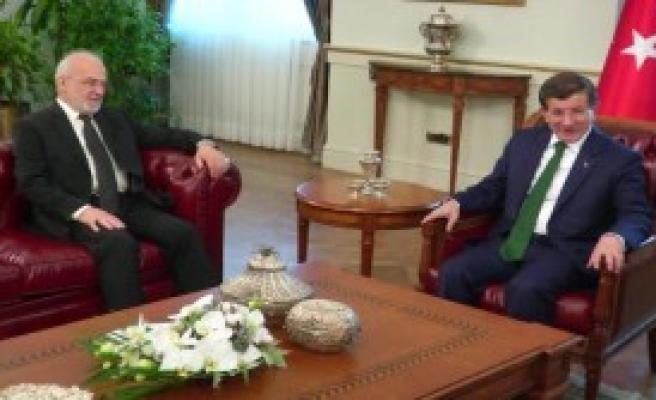 Başbakan Davutoğlu, Irak Dışişleri Bakanı Caferi'yi Kabul Etti