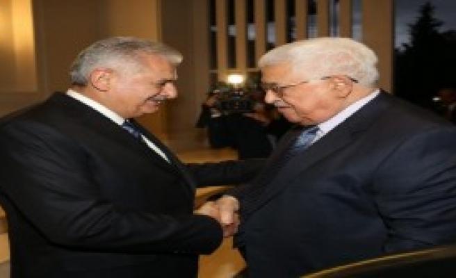 Yıldırım, Filistin Devlet Başkanı Abbas'la Görüştü