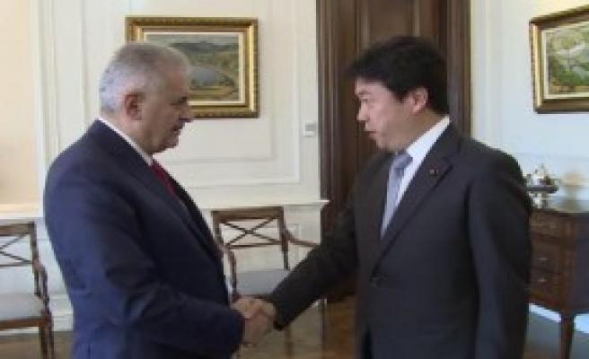 Yıldırım Japonya Devlet Bakanını Kabul Etti