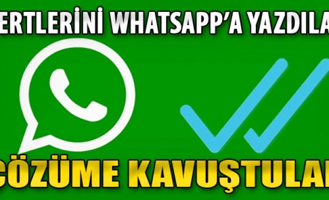 Dertlerini WhatsApp'a Yazdılar Çözüme Kavuştular