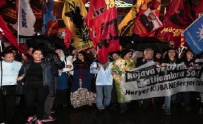Beyoğlu'nda IŞİD Karşıtı Protesto