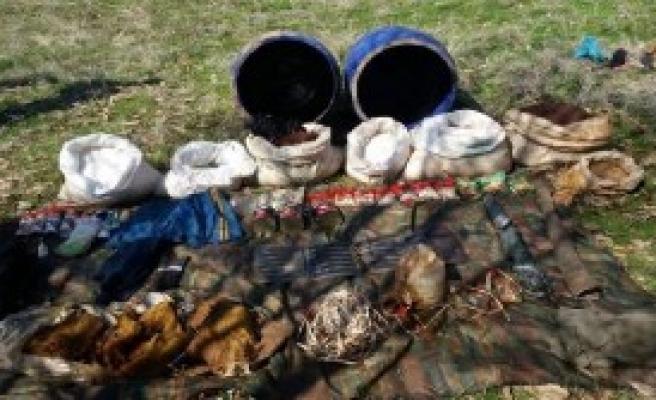 PKK'ya ait el yapımı patlayıcı imha edildi