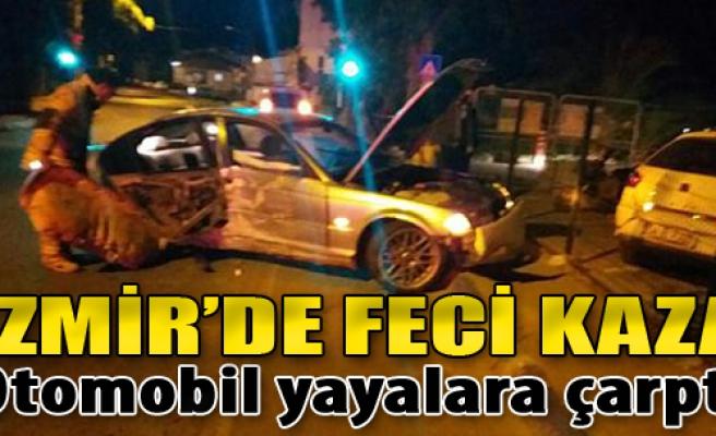 Otomobil Yayalara Çarptı: 1 Ölü, 4 Yaralı